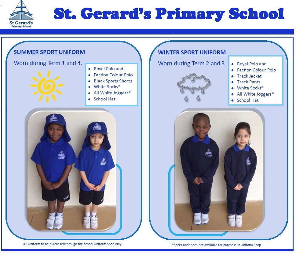 uniform standards   kindy and pre primary